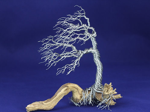 Wind Blown Tree of Life | Wire Sculpture | Driftwood 12300