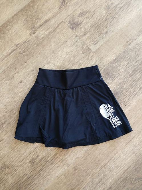 Short saia em poliamida