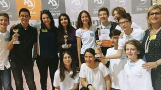 מקום ראשון - אליפות הארץ ברובוטיקה