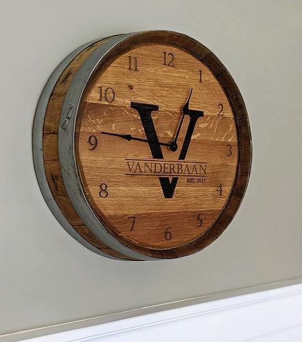 Authentic Barrel Head Clock