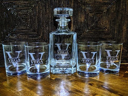 Whiskey Decanter & Glasses