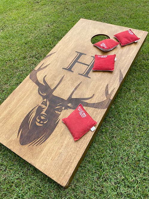 Regulation Laser-burned Cornhole Set