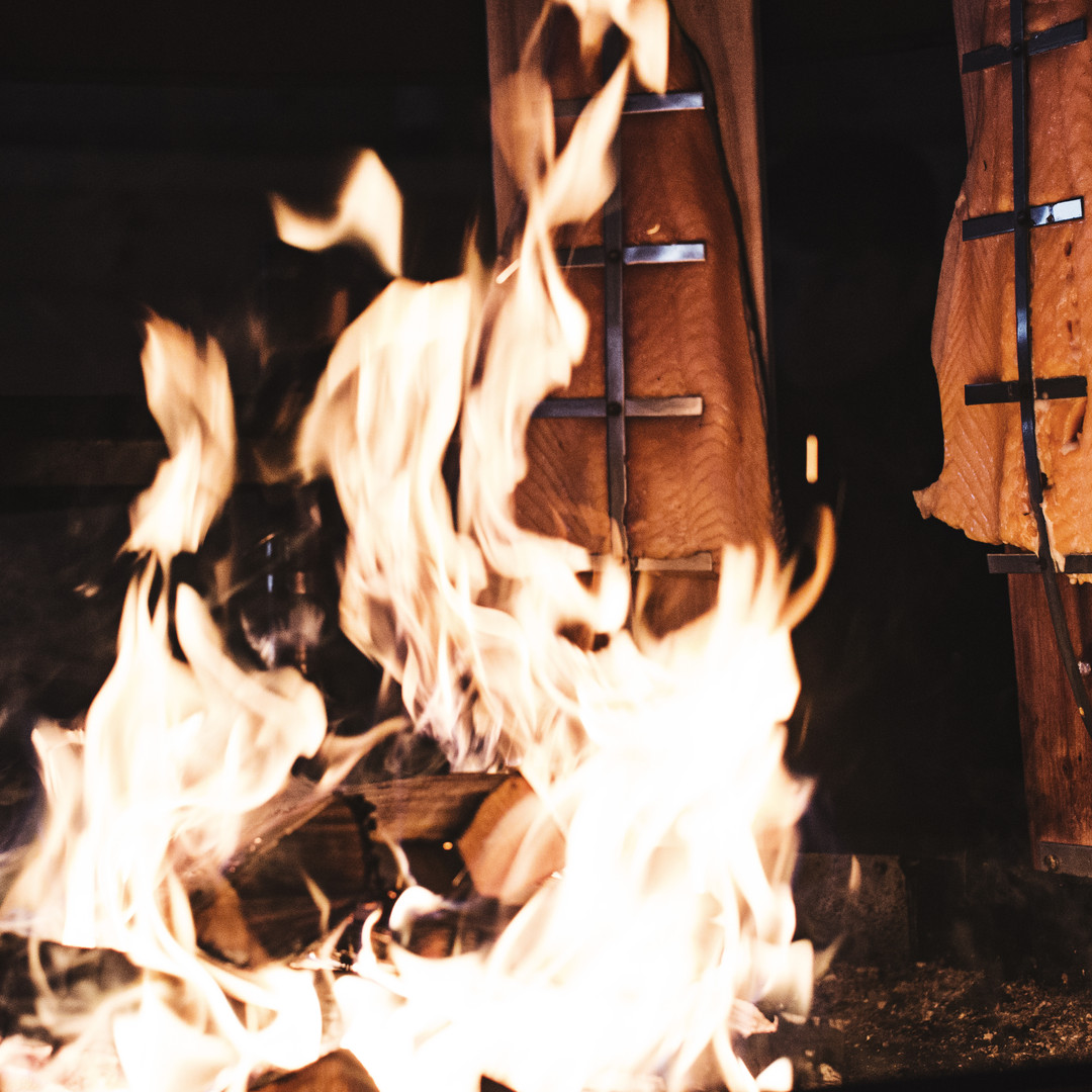 Open fire cooking in South Lapland
