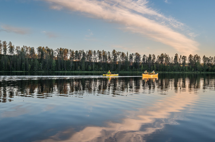 Canoeing in Syöte