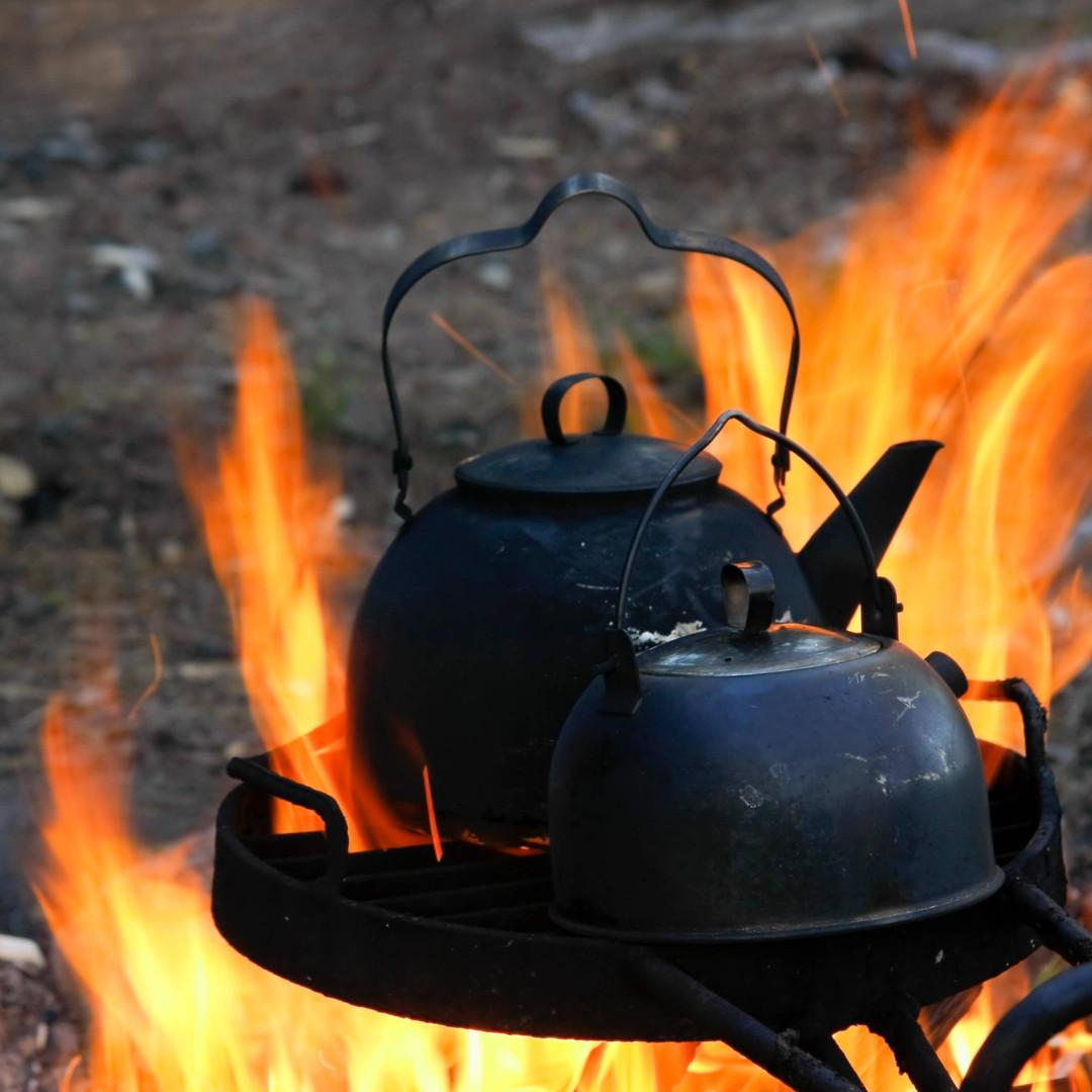 Balack Pan coffee in South Lapland