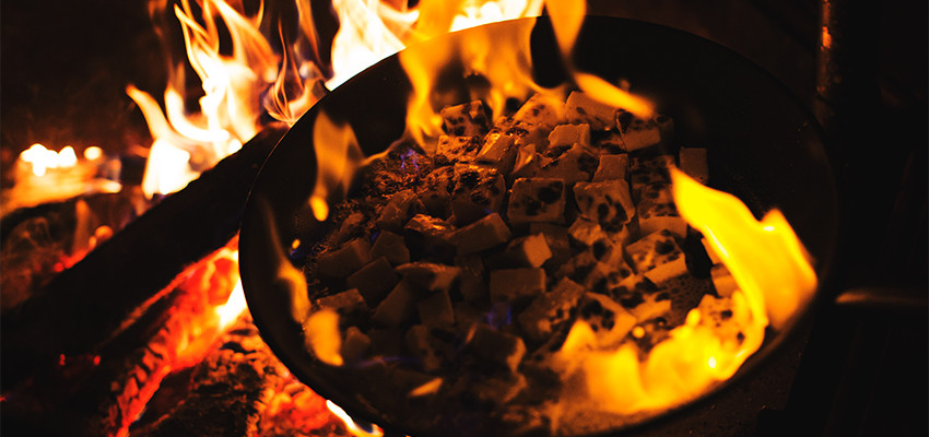 Open fire cooking, Hikes'n Trails