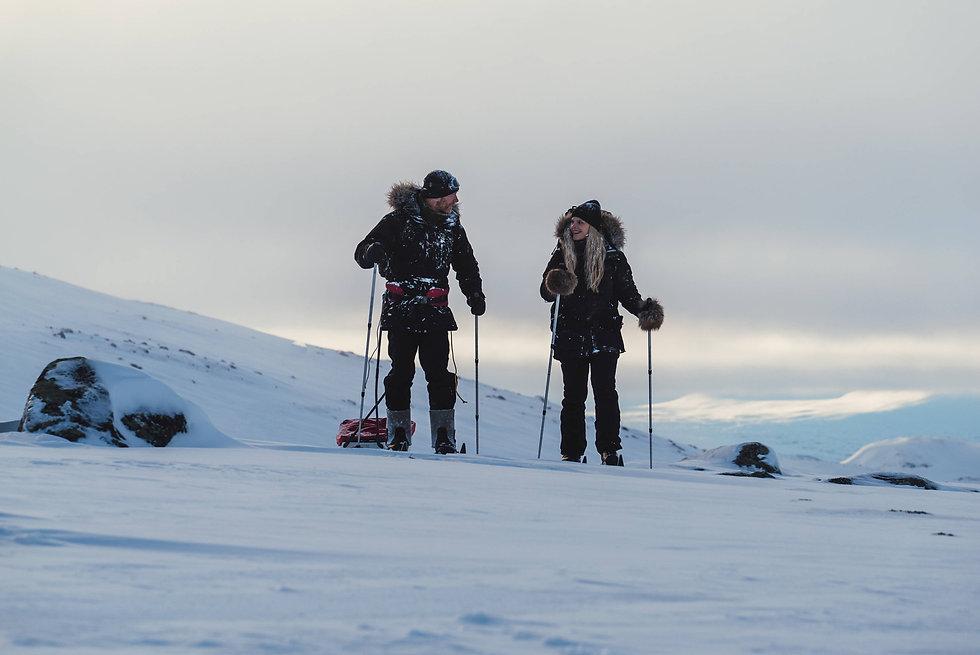 skitour in swedish lapland