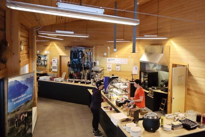 cafe korppi in syöte visitor centre