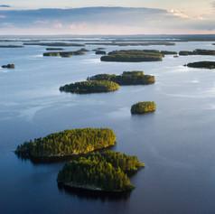 Kayaking on lake in Finland