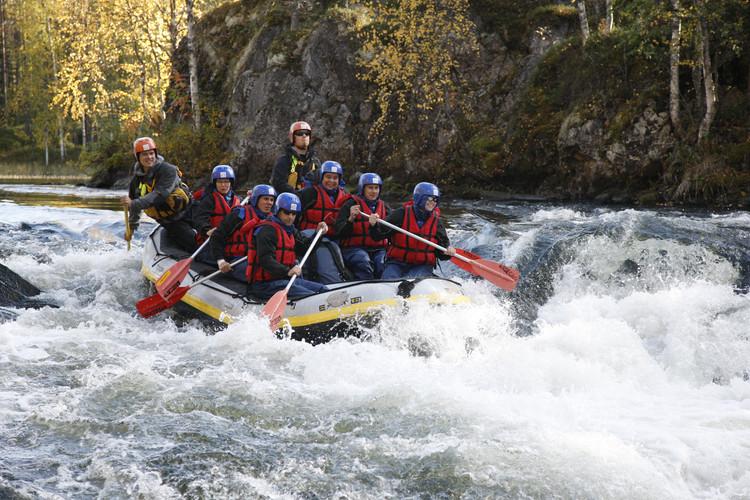 Rafting in Oulanka