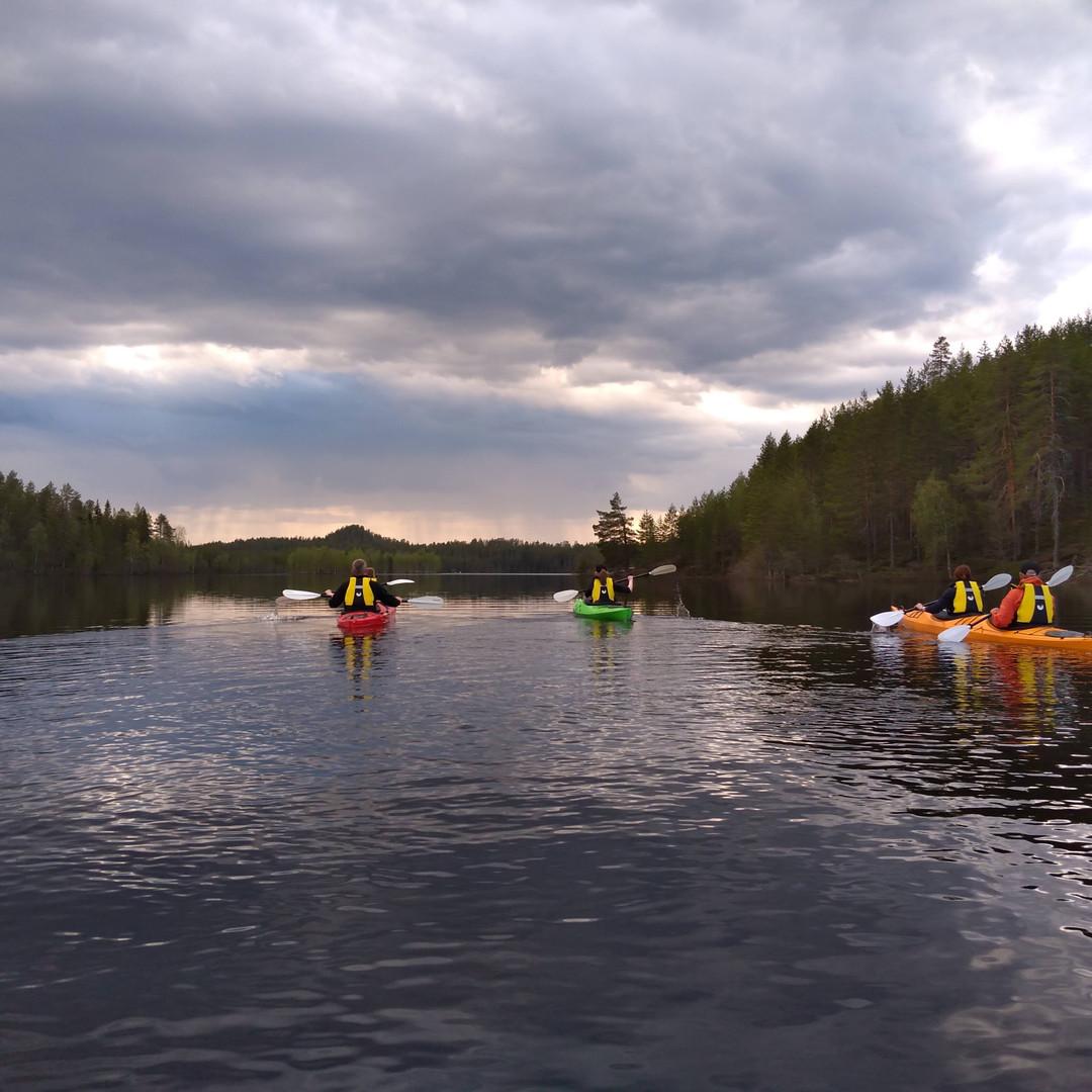 Kayaking tours in Finland
