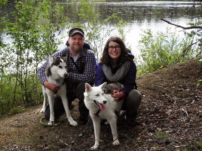 Husky hiking in Syöte