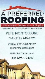 a preferred roofing logo