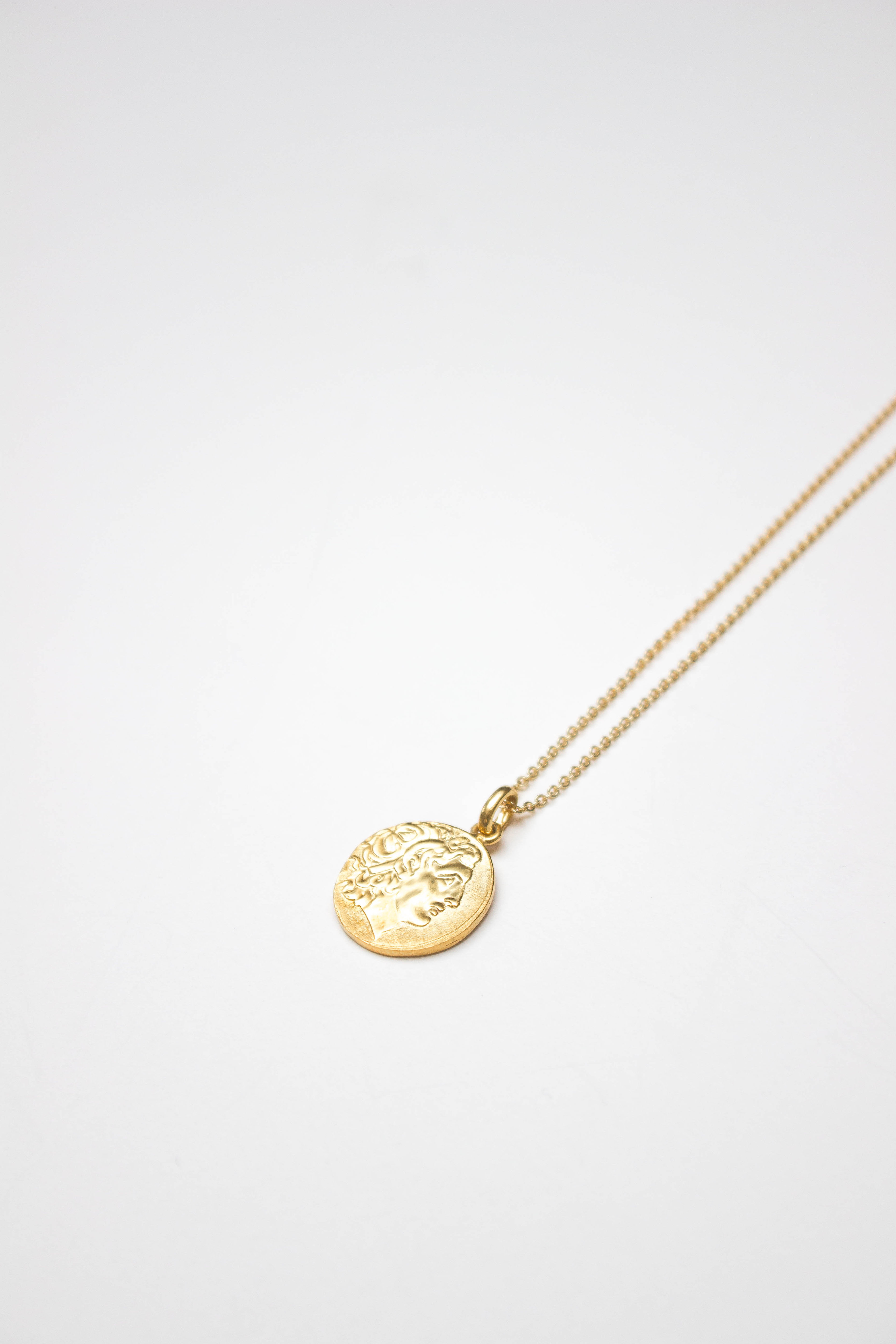 Greek Coin Necklace, Solid Gold / Gold
