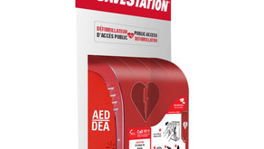 Defibrillator SaveStation Donated to Huntsville now available to public at Civic Square