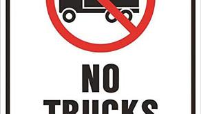 As of Nov. 1 High Falls Road in Bracebridge is off limits to heavy trucks through winter till Apr. 1