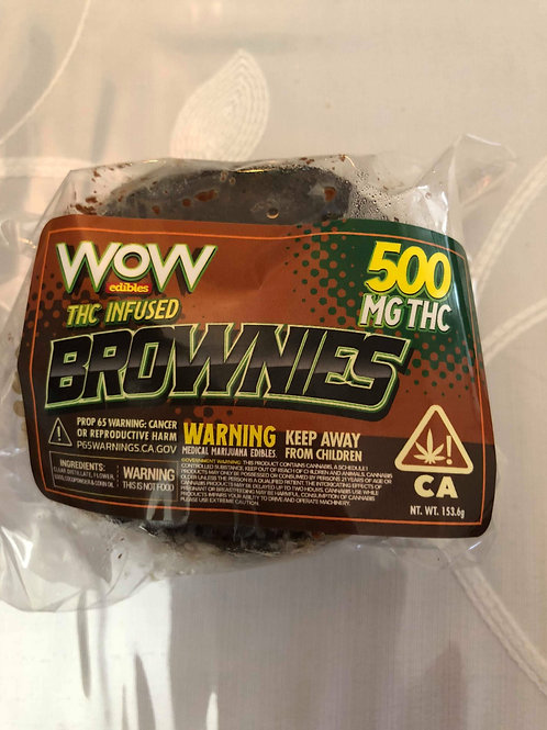 500mg - WOW Edibles Brownies