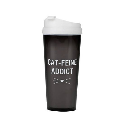 Cat-Feine Addict Travel Mug