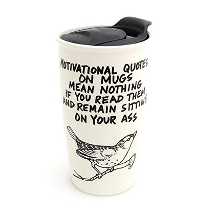 Motivational Quotes Ceramic Travel Mug