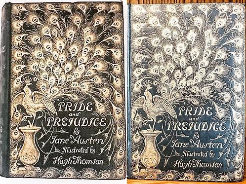 RARE Pride and Prejudice by Jane Austen, Peacock Edition illust. by Hugh Thomson