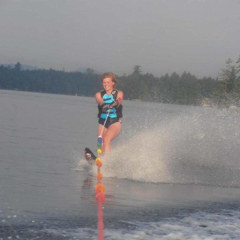 First Summer Slalom Sking