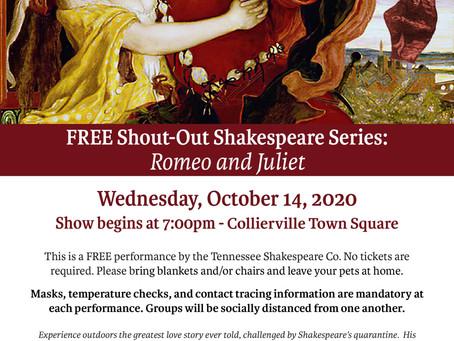 FREE Romeo & Juliet Performance - 10/14