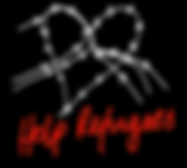 Help_Refugees logo white heart black bac
