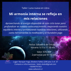 Taller luna nueva en Libra