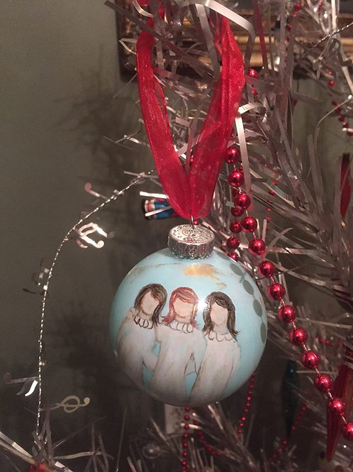 Hand Painted Three Sisters Ornament
