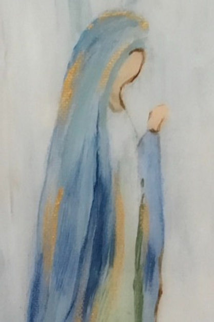 """4""""x 12"""" Blessed Mary"""