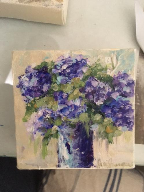 "4""x 4"" Purple Hydrangea"