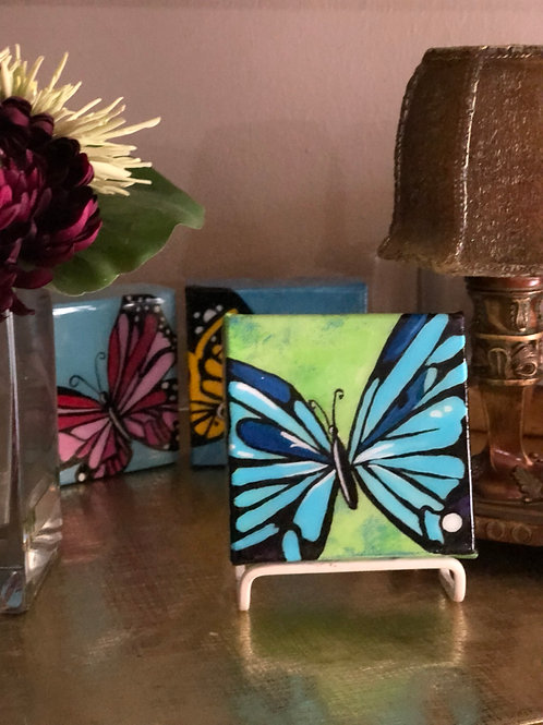 "4"" x 4"" Colorful Butterfly"