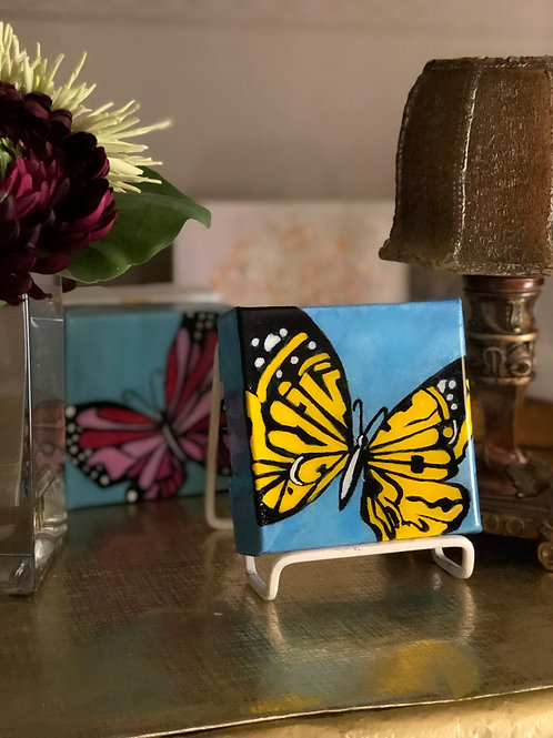 """4"""" x 4"""" Colorful Butterfly"""