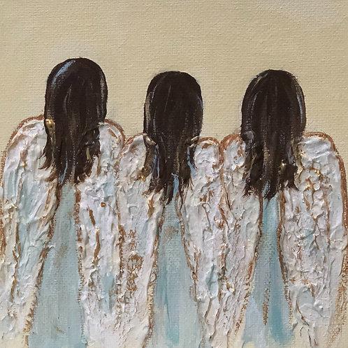 "6"" x 6"" Angel kids"