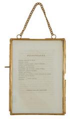 Brass & Glass Frame