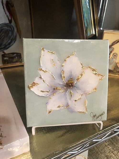 "6""x 6"" Gold Leaf Magnolia"