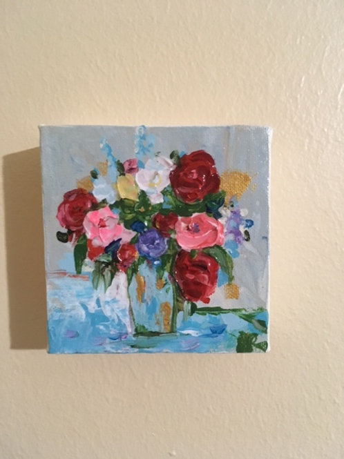 """4""""x 4"""" Red & Pink Roses"""