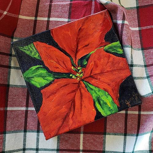 """6"""" x 6"""" Christmas Poinsettia"""