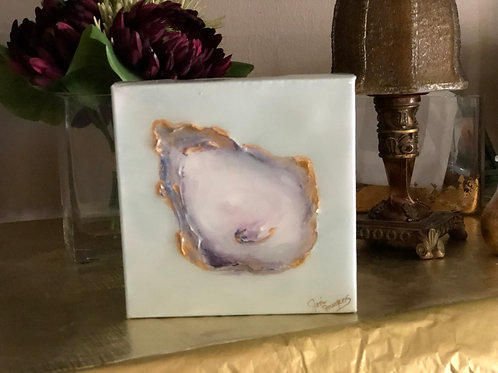 "6""x 6"" Oyster with Metallics"