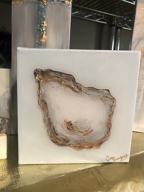 """6""""x 6"""" Oyster with Metallics"""