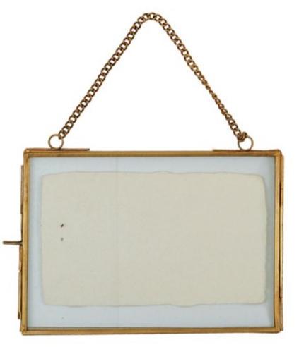 """5""""x7"""" Brass & Glass photo frame"""