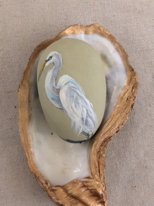 Hand Painted Decorative Wood Egg