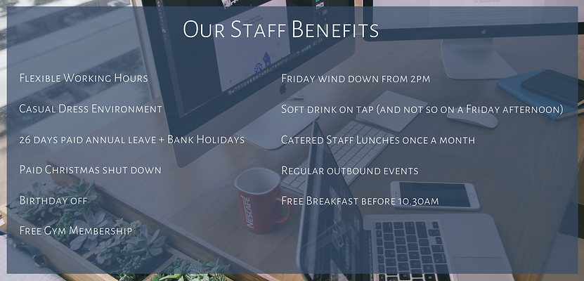 Our Staff Benefits