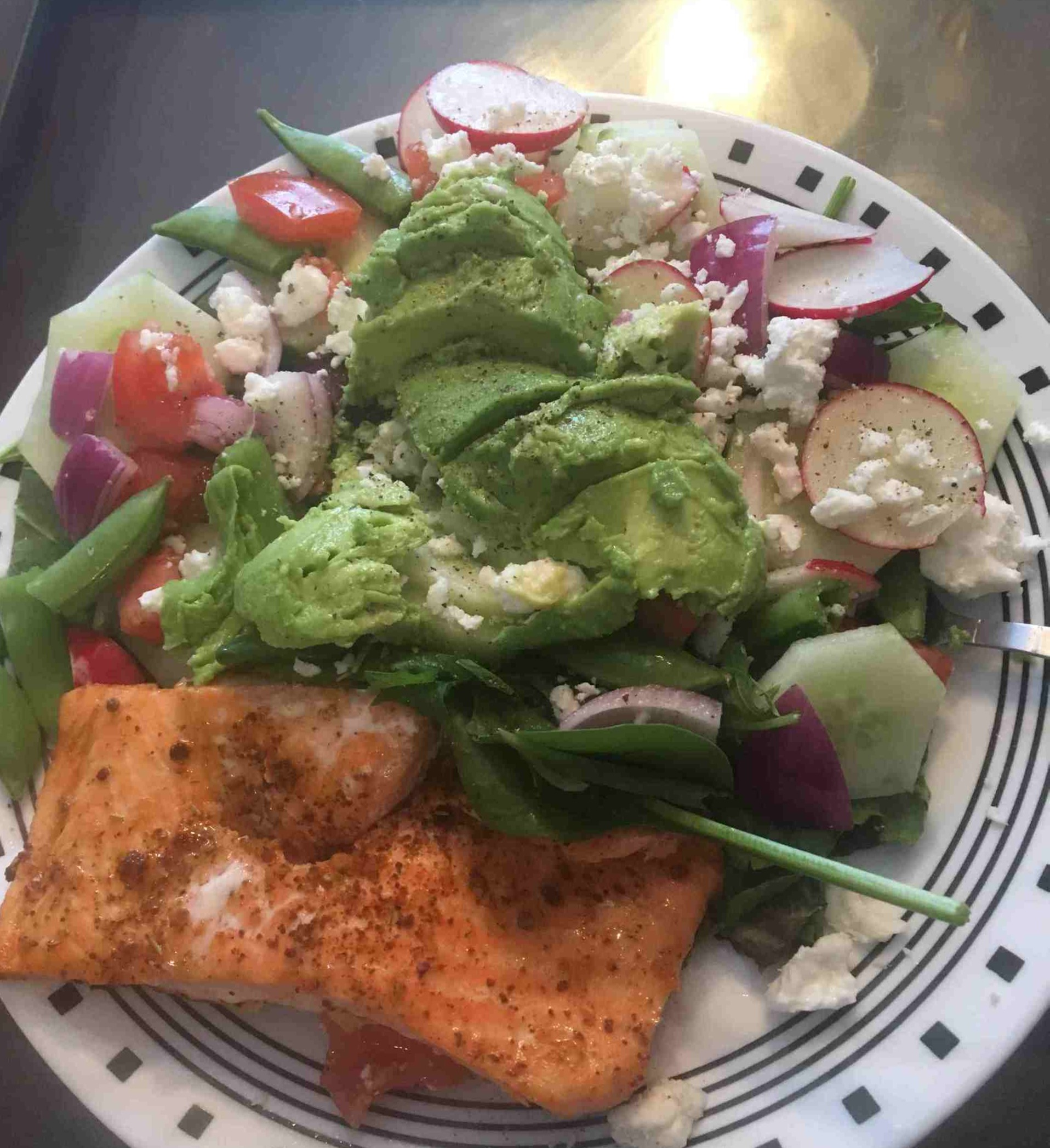 Baked Salmon and Salad by Sarah W.