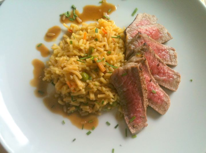 Steak and Rice by Peter P.