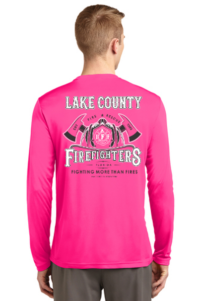 2019 Fighting More Than Fires - Long Sleeve Pink Adult Shirt