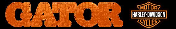 logo_Gator Harley_text orange- transpare