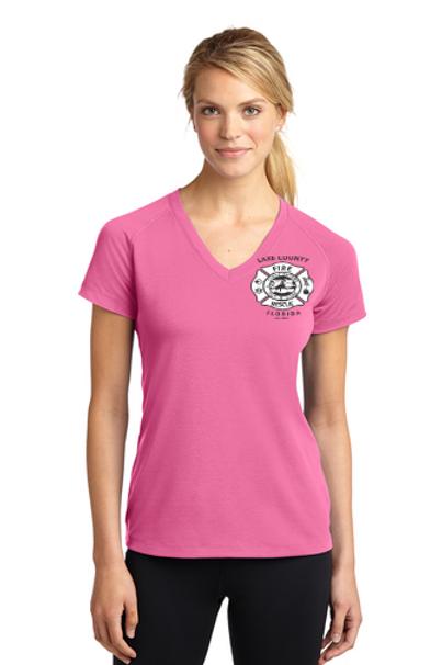 Fighting More Than Fires (Helmet) Ladies V-Neck T-Shirt
