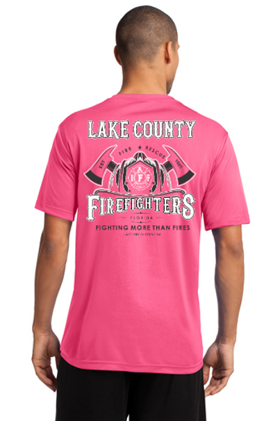 Fighting More Than Fires (Helmet) Pink Shirt - Adult