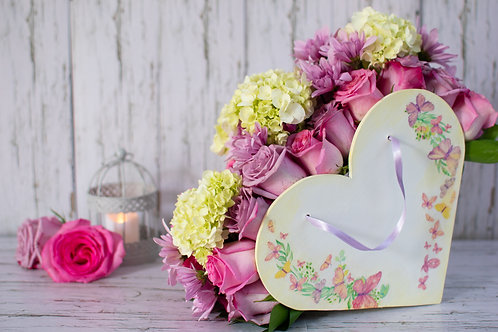 Arreglo Floral Country Heart